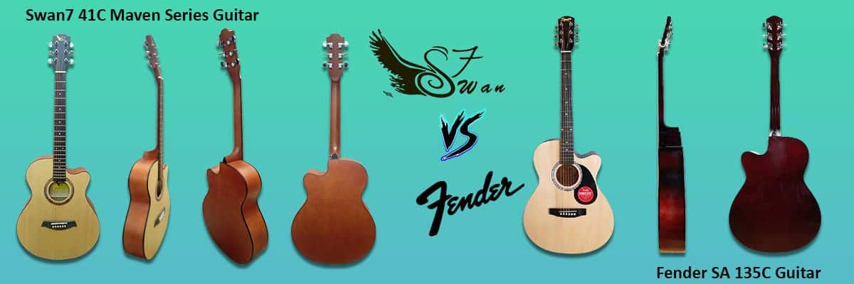 Fender SA 135C Vs Swan7 41C Maven Acoustic Guitar