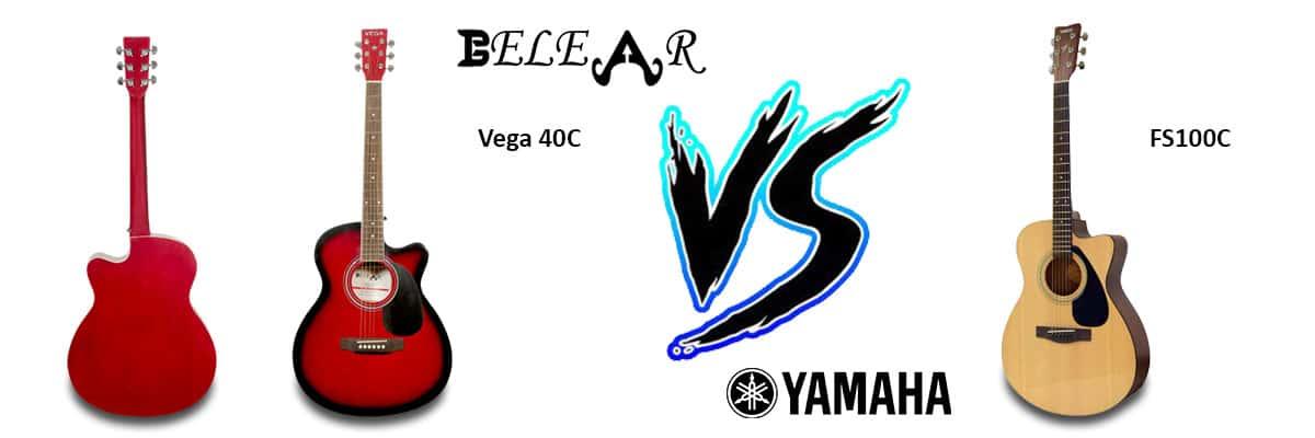 Yamaha FS100 C Acoustic Guitar Vs Belear Vega 40C Acoustic Guitar