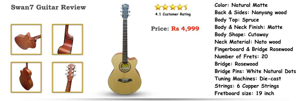 Swan7 Guitar Review: Best Selling Guitar in India