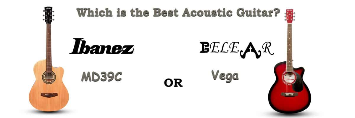 Ibanez MD39C Vs Belear Vega Series Cutaway Acoustic Guitars