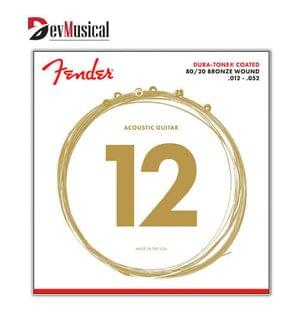 Fender 880L 12 52 Acoustic 80 20 Guitar Strings
