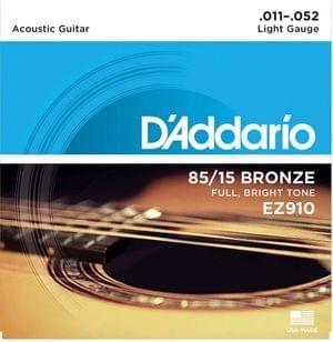 DAddario EZ910 85 15 Bronze Acoustic Guitar Strings
