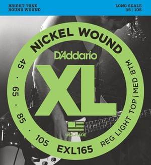 DAddario EXL165 45 To 105 Gauge Bass Guitar Strings