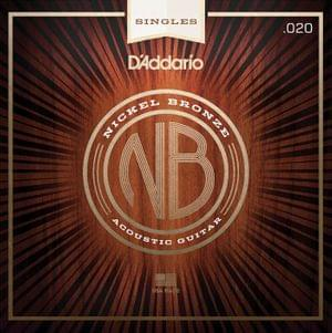DAddario NB020 Nickel Bronze Wound Acoustic Guitar String