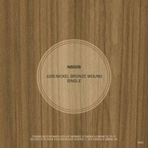 DAddario NB026 Nickel Bronze Wound Acoustic Guitar String