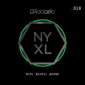 DAddario NYNW019 NYXL Nickel Wound Electric Guitar Single String