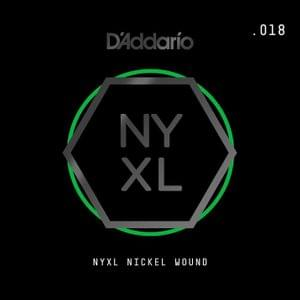 DAddario NYNW018 NYXL Nickel Wound Electric Guitar Single String