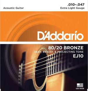 D Addario EJ10 80 20 Bronze Extra Light Acoustic Strings