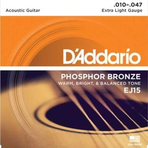 D Addario EJ15 80 20 Bronze Extra Light Acoustic Strings