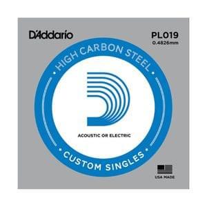 D Addario PL019 Plain Steel Electric Guitar Single Strings