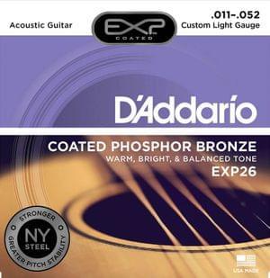 D Addario EXP26 Coated Phosphor Bronze Acoustic Guitar Strings