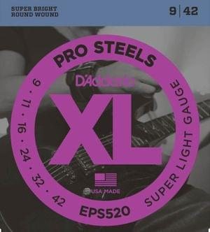 D Addario EPS520 ProSteels Light Electric Guitar Strings