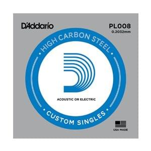 D Addario PL008 Plain Steel Guitar Single String