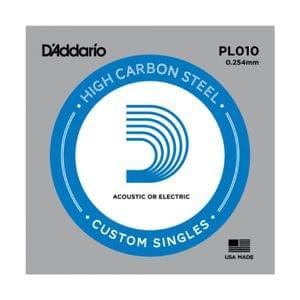 D Addario PL010 Plain Steel Guitar Single String