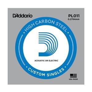 D Addario PL011 Plain Steel Guitar Single String