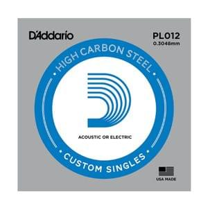 D Addario PL012 Plain Steel Guitar Single String