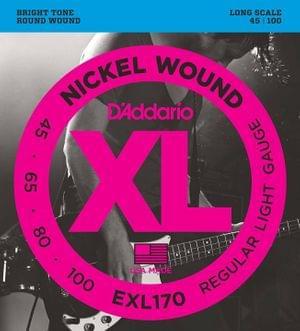 D Addario EXL170 Nickel Wound Bass Guitar Strings XL 45-100
