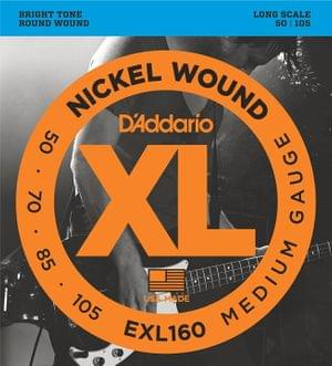 DAddario EXL160 Set Bass XL String 50 105 Long Scale