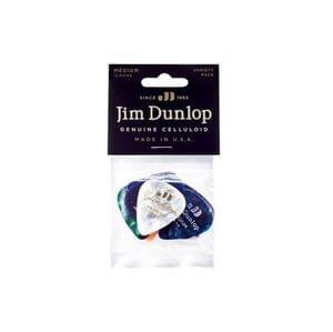 Dunlop PVP106 Medium Celluloid Guitar Picks 12 Variety Pack