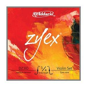 Daddario Zyex DZ310 Violin Strings 3 4 medium