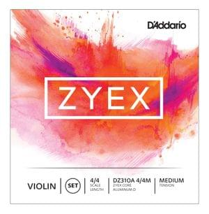 Daddario Zyex Violin DZ310A 4 4 Medium Tension String