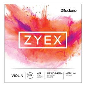 Daddario Zyex DZ310S Violin strings 4 4 Heavy Tension