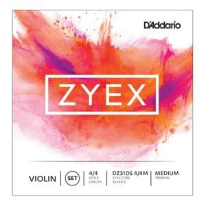 Daddario Zyex DZ310S Violin strings 4 4 Medium Tension