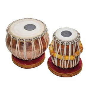 Tabla Pair Engraved Copper Dugga