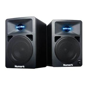Numark NWave580L Powered DJ Monitors Speakers with Pulsating Lights