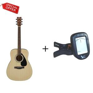 Yamaha F280 Natural Acoustic Guitar with Tuner Combo Package