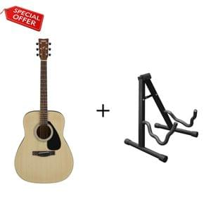 Yamaha F280 Natural Acoustic Guitar with Stand Combo Package