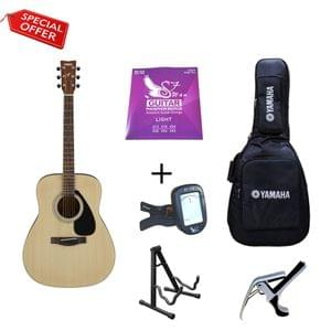 Yamaha F280 Guitar with Gig Bag Strings Tuner Capo and Stand Combo