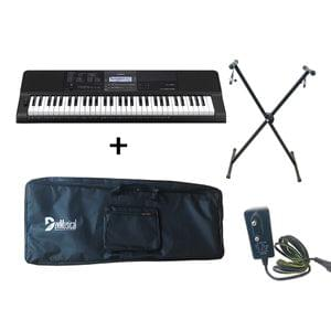 Casio CT X870IN Keyboard Combo Package with Carrying Bag Stand and Adaptor