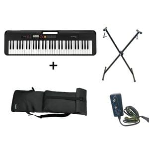Casio CT S200 Black Keyboard Combo Package with Carrying Bag Stand and Adaptor