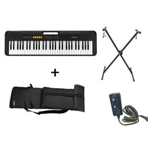 Casio CT S100 Keyboard Combo Package with Carrying Bag Stand and Adaptor