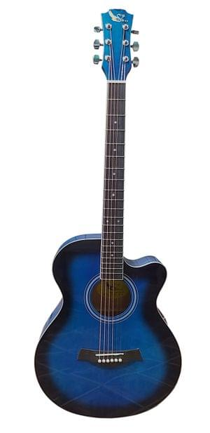 Swan7 SW39C Maven Series Blue Glossy Acoustic Guitar