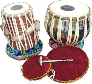 DevMusical Brass Dugga With Sheesham Wood Tabla