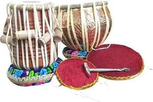 DevMusical Copper Engraved Dugga With Sheesham Wood Tabla