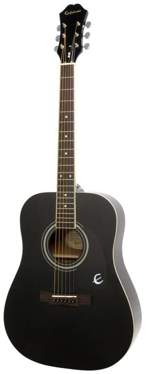 Epiphone EA10EBCH1 DR-100 Dreadnought Ebony Acoustic Guitar