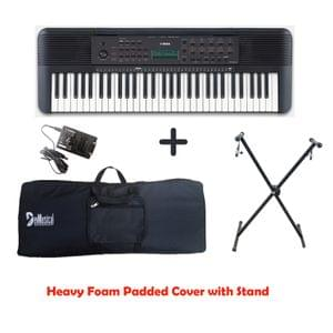 Yamaha PSR E273 Arranger Keyboard Combo Package with Bag, Stand, and Adaptor
