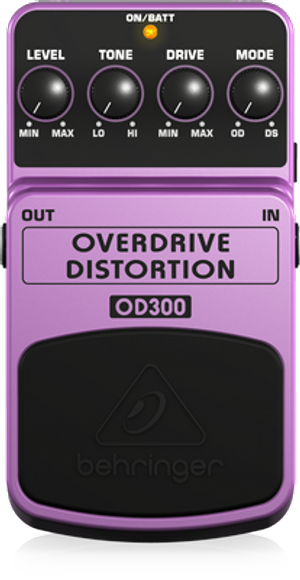 Behringer OD300 Overdrive Distortion Guitar Effects Pedal
