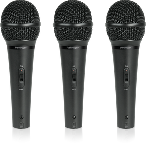 Behringer XM1800S Dynamic Vocal & Instrument Microphone Set of 3