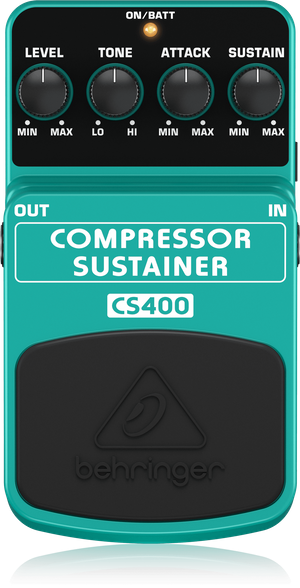 Behringer CS400 Compressor Sustainer Guitar Effect Pedal