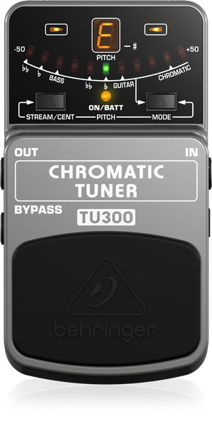 Behringer TU300 Chromatic Guitar Bass Tuner Pedal