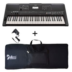 Yamaha PSR E463 Portable Keyboard with Adaptor and Bag Combo Package