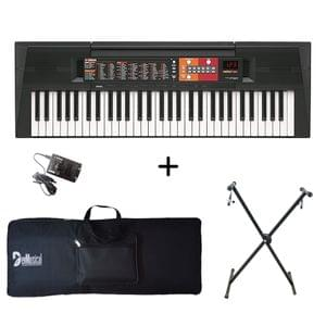 Yamaha PSR-F51 Portable Keyboard with Adaptor Bag and Stand Combo Package