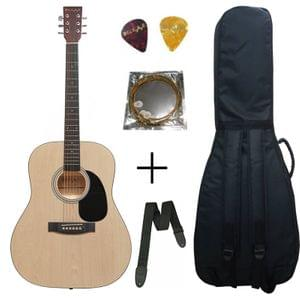Belear K-610NAT 41 Inch Natural Dreadnought Acoustic Guitar With Bag, Strap , String and Picks
