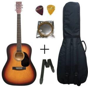 Belear K-610SSBM Vega 41 Inch Satin Sunburst Dreadnought Acoustic Guitar With Bag , Strap ,String and Picks