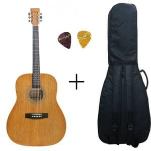 Belear K-610MAH Vega King Size Jumbo Okoume Dreadnought Acoustic Guitar With Bag and Picks