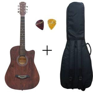 Belear I-280-WBR Couturier 38 Inch Brown Cutaway Acoustic Guitar With Bag and Picks